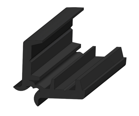 Centaflex Continuous Hinge - 2M Length in Black - Motor Gearbox Products