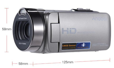 "Andoer HDV-312P Video Camera Full HD 1080P Portable Camcorders 16x Zoom 20MP Home Use Digital W/ 2.7"" Rotating LCD Screen"