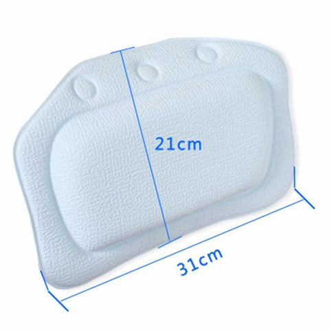 Bathtub Soft Pillow 21x31cm Suction Attachment Eco-friendly Spa Bath Headrest