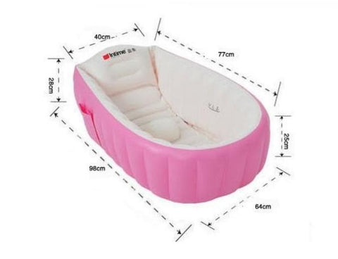 Children's Inflatable Bathtub Cushion Folding Portable 98*65*28cm Includes Foot Air Pump