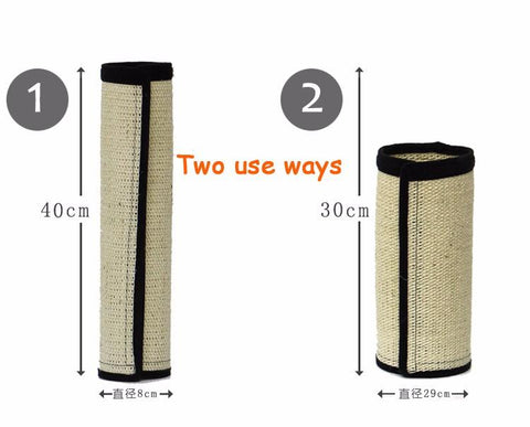 Natural Sisal Cat Scratching Post Mat Toy for Cats Catnip Tower Climbing Tree Cat Scratch Pad Board Protecting Furniture Foot