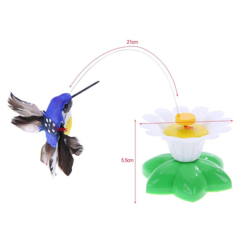 Cat Toys Electric Rotating Colorful Butterfly FunnyPet Seat ScratchToy For Cats Kitten Dropshipping 8 X 5.5cm