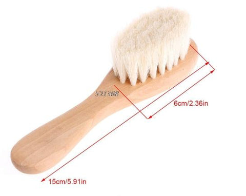 (YAS) 2017 Wooden Handle Brush Baby Hairbrush Newborn Hair Infant Comb Head Massager MAR30_17