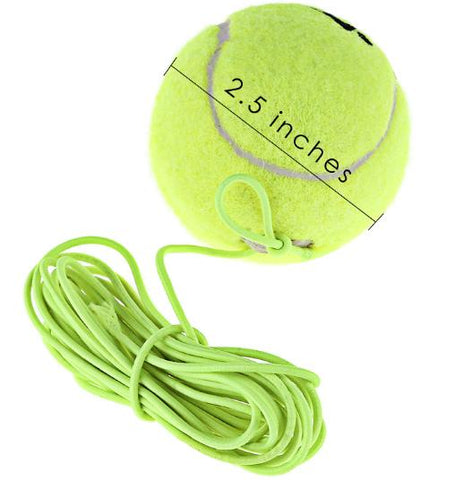 Resiliency Tennis Balls Trainer with String Replacement Rubber Woolen Neon Green Single Package Drill Exercise