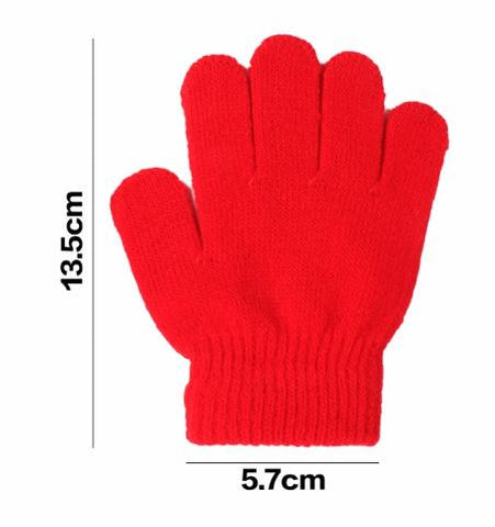 Unisex Baby's Gloves Full Finger Knitted Warm Winter Solid Stretch