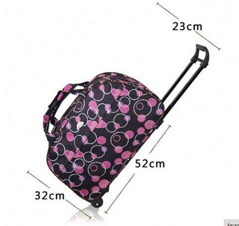 Unisex Luggage Bag with Wheels Waterproof Thick Style Rolling Travel