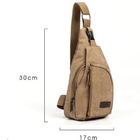 Men's Shoulder Bag Canvas Messenger Style Casual Travel Military