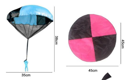 Kids Soldier Parachute Toy Hand Throwing Outdoor Sports Educational