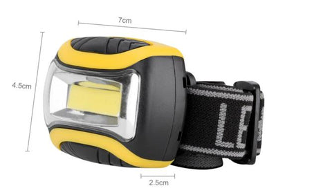 SANYI Portable Mini 3 Modes Waterproof COB LED Headlamp Outdoor Headlight Torch Lanterna Lighting for Night Ride Use 3*AAA