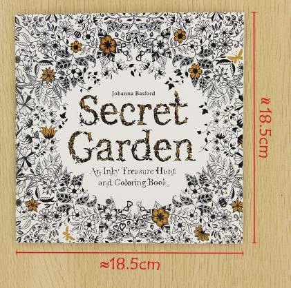 24 Pages Secret Garden English Edition Coloring Book For Children Adult Relieve Stress Kill Time Painting Drawing