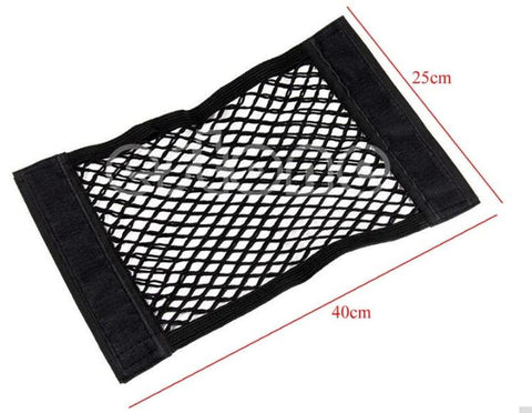 Car Elastic String Mesh Storage Bag 40x25cm Rear Trunk Pocket Organizer