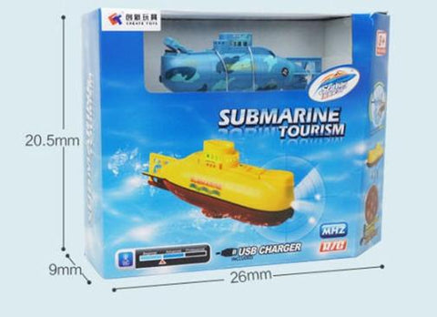 6CH High Speed Radio Remote Control Electric Mini RC Submarine Kids Toy Boys Model Toys Gifts