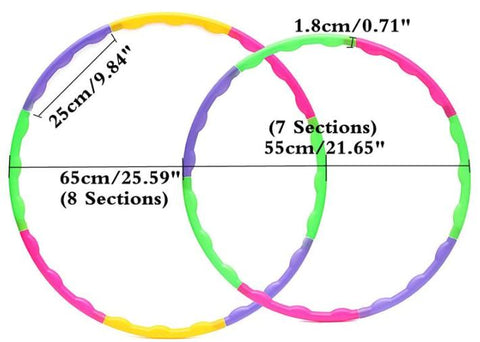 Kid's Adjustable Hula Hoop Colorful Fitness Ring 65cm 55cm