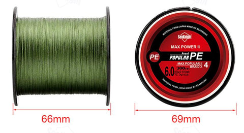 SeaKnight Brand TriPoseidon Series 300M 330Yards PE Braided Fishing Line 4 Stands 8LB 10LB 20LB 60LB Multifilament