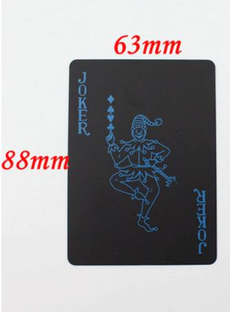 Poker Playing Cards Set Plastic PVC Waterproof Classic Pure Color Black Magic Tricks 55pcs/pack