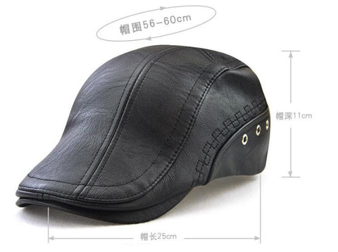 2017 New Casual PU Baseball Hat For Men Fashion EmbroideryAll-suits Faux Autumn Winter Male Caps