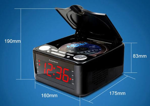 Clock Timing HiFi CD Audioplayer Reproduce Speech Antenatal Training with Function MP3/USB/Clock/Alarm/Phone Charger
