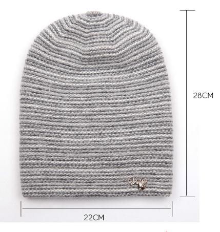 Women's Knitted Hat Rabbit Cashmere Mixed Color Thick Warm Gravity Falls