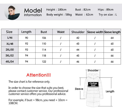 Coat women's winter fashion casual jackets hooded parkas brand clothing