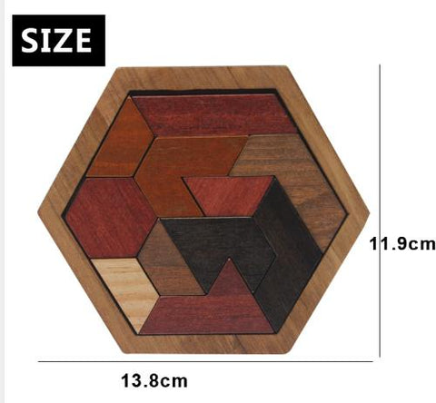 Kids Puzzles Wooden Toys Tangram/Jigsaw Board Wood Geometric Shape P Children Educational