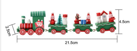 Christmas Decoration For Home Little Train Popular Wooden Decor Ornaments New Year Supplies