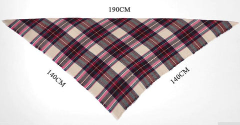 Women's Scarf Plaid Pattern Designer Acrylic Cashmere Basic
