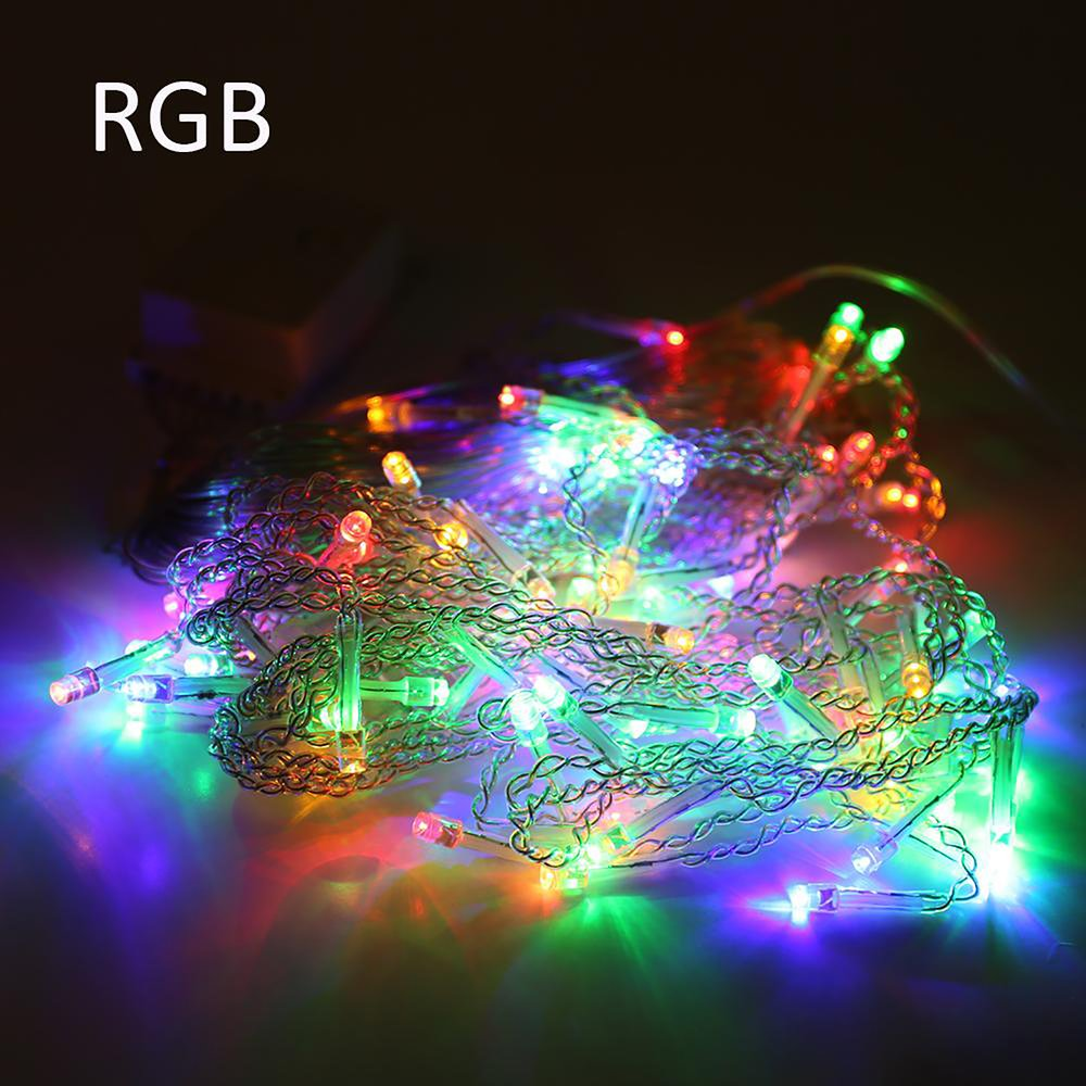 connectable christmas lights led icicle string fairy party decoration watch whole