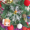 Sale 30 Pcs Xmas Classic Charming White Snowflake Party Holiday Christmas Ornaments Home Decor