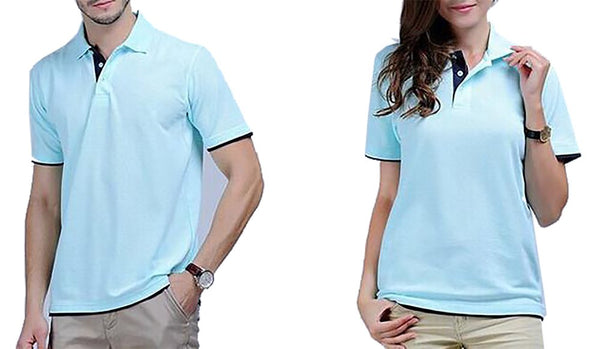 Unisex Adult's Polo Shirt Breathable Regular Cotton Slim Fit Shor Sleeves Casual Solid