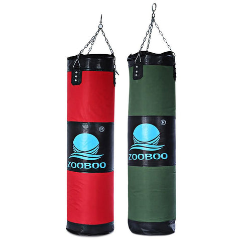 100cm Boxing Punching Bag FItness Sandbags Striking Drop Hollow Empty Sand with Chain Martial Art Training Punch Target