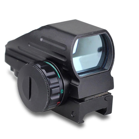 Hunting Sight Scope Rail Mount 4 Reticle Laser Holographic Projected Dot Tactical Reflex Green/Red for Airgun Riffle 20mm