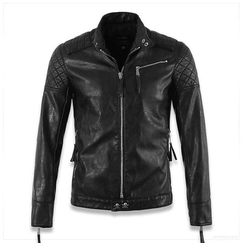 Hot ! High Quality New Spring Fashion Leather Jackets Men, Men's Jacket Brand Motorcycle Skull