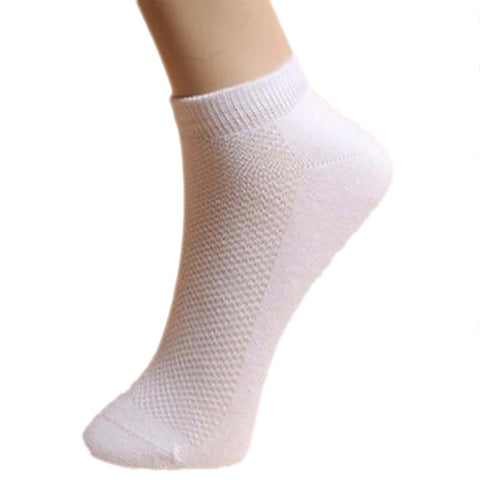 5pair Men Socks Brand Quality Polyester Casual Breathable 3 Pure Colors CalcetinesMesh Short Boat For Meias