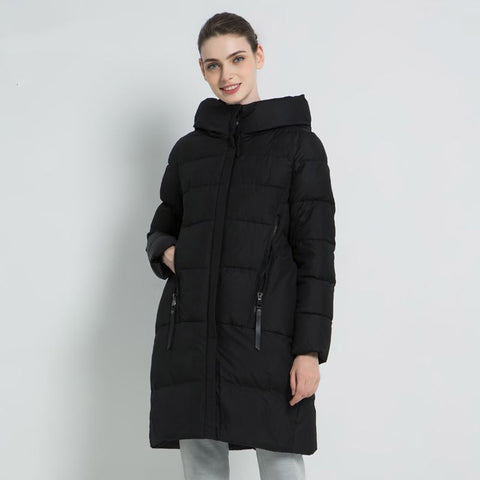 Jacket women's winter hooded coat brand clothing casual warm parka
