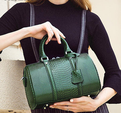 Bags women shoulder handbags large capacity messenger crocodile pattern genuine leather