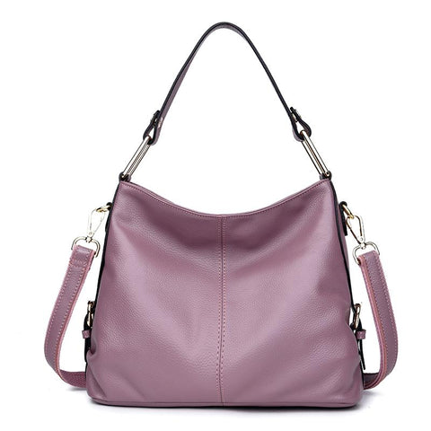 Women's New Fashion First-layer Leather Hand-held Messenger Bag Leisure Soft-cover Large-capacity Vertical Team-wide Handbag