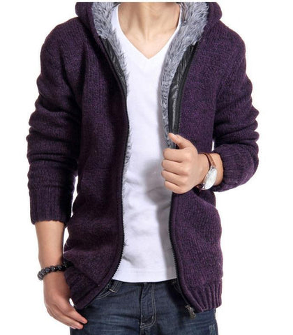 Jackets men autumn and winter wool slim fit windproof outerwear warm overcoat