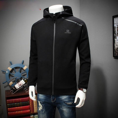 Jacket men spring and autumn plus size 8xl 7xl 6xl 5xl 4xl hooded fashion casual loose cotton big