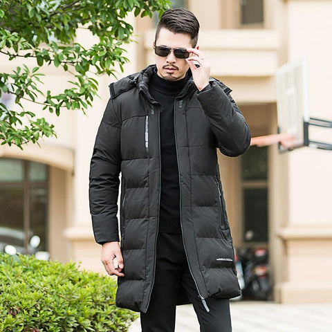 Jacket men's cotton winter long hooded park large size loose thick coat xl-5xl 6xl 7xl 8xl