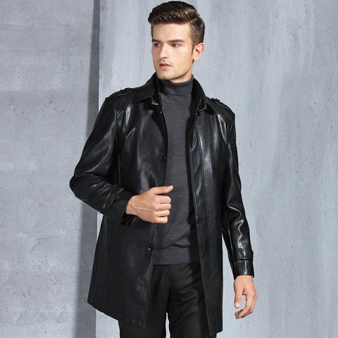 Coats male 3xl winter pu leather casual jackets thermal faux warm brand clothing