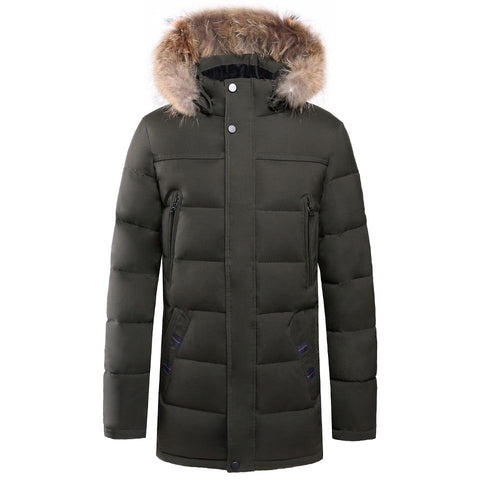 Coat men 6xl plus size winter causal long thick fox fur parka jacket brand waterproof warm fleece