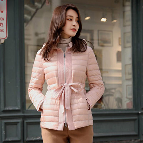 Jacket woman ultra light down hooded duck coat winter autumn puffer