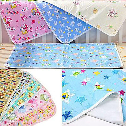 Waterproof Urine Mat Cotton Soft Nappies Cover Pad Cloth For Baby Newborn Infant Bedding Sheets Pink Yellow Blue