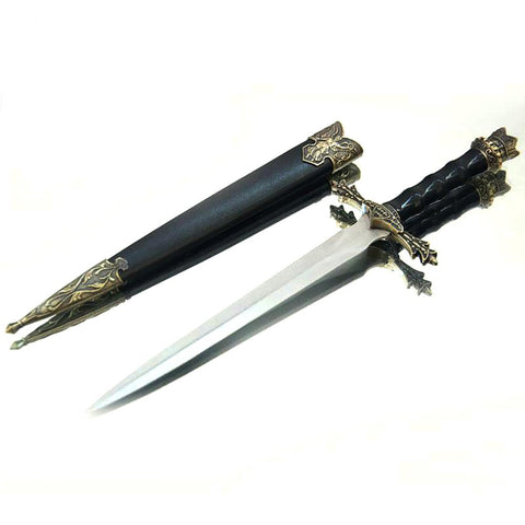 Fashion Gifts Beautifully Carved MedievalSword Stainless Steel Blades Short Small Vintage Home Decor Sword