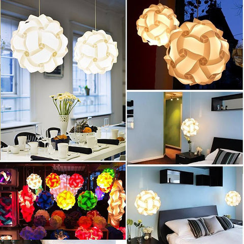 Small Jigsaw Lamp 30 pcs Bar Decor Home Light Shade Interior Design Lighting