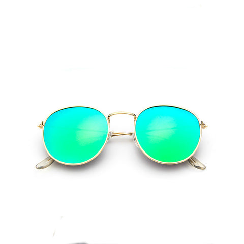 Unisex Adult's Sunglasses Retro Roung Designer UV400 Saf Polycarbonate Mirror Lenses Alloy Made Frames