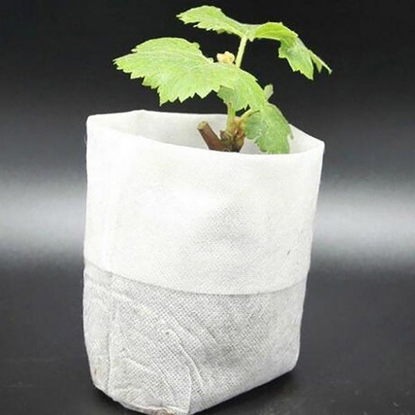 Nursery Pots Seedling-Raising Bags Environmental Non-woven Fabrics Garden Supplies 100pcs/pack