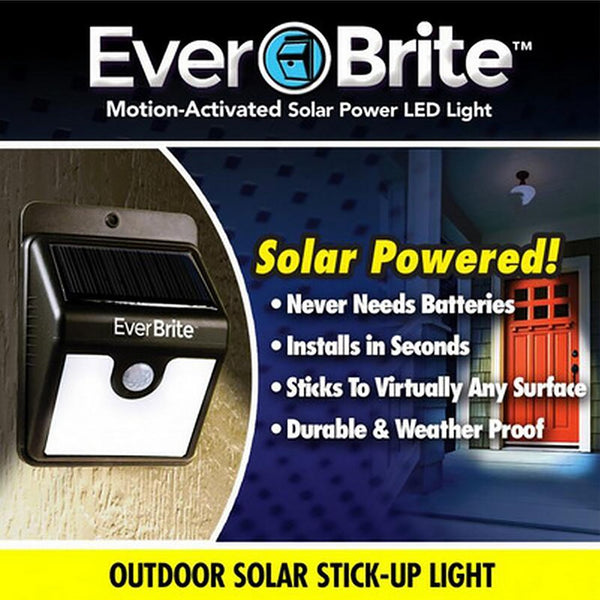 Outdoor Stick Up Light Solar Energy Motion Activated