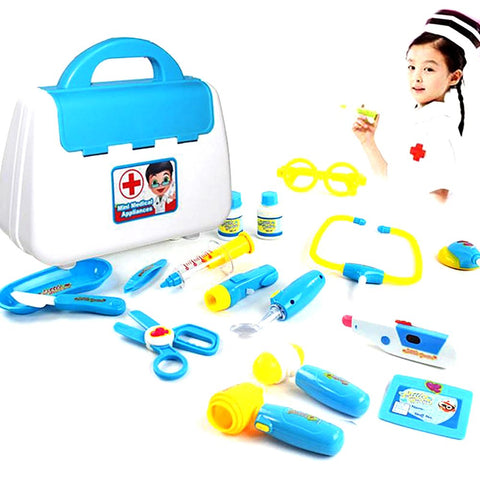 New Baby Kids Funny Toys Doctor Play Sets Simulation Medicine Box Pretent Stethoscope Injections Children Gifts