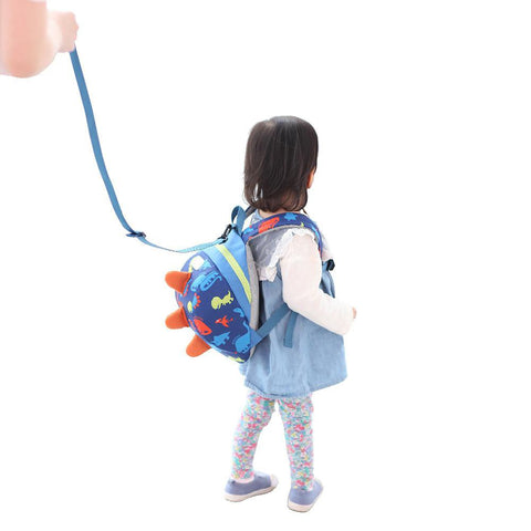 SUNVENO Cute Cartoon Toddler Baby Harness Backpack Leash Safety Anti-lost Strap Walker Dinosaur Children Leash